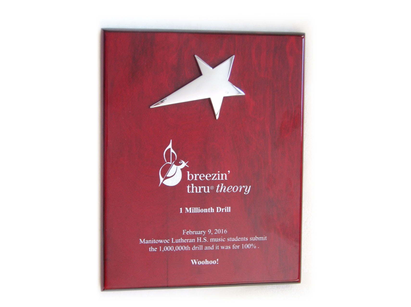 "<p>Manitowoc Lutheran High School has used Breezin` Thru Theory for the last 5 years as part of their Music Education program.  On February 9, 2016 MLHS music students submitted the 1,000,000th drill in the BTT database <u>and</u> it was for 100%. Woohoo! A monumental moment in Breezin` Thru history and for these students!  Thank you MLHS for your continued use of Breezin Thru Theory, your commitment to music education and the impressive achievements!</p> <p><em>""We have had tremendous results with Breezin' Thru Theory and look forward to