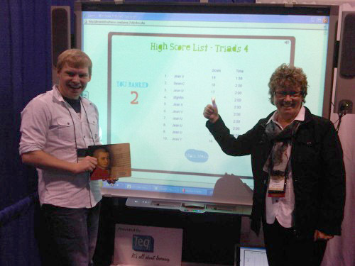 "<p>Sean Carpenter of Hartwick College in New York, tested his skills on our toughest <a href=""http://breezin.rustyramone.com/try-it/"">Breezin&#8217; Thru Theory game</a> &#8211; Triads. Not only did he make it up all 4 levels but he posted the 2nd best score ever. He was second only to the Author, Jean McKen!</p>"